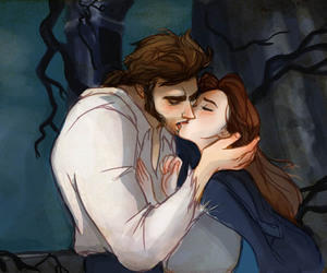 beauty and the beast, disney, and kiss image