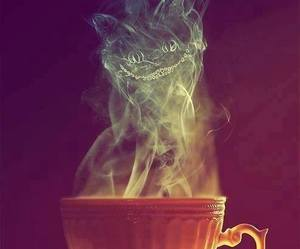 cat, tea, and alice in wonderland image