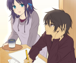 kawaii, sweet, and cute anime couple image