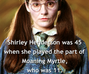 harry potter, facts, and moaning myrtle image