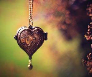heart, locket, and photography image