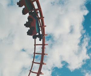 sky, fun, and Roller Coaster image