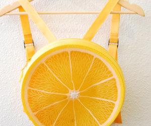 backpack, bag, and orange image