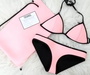 pink, bikini, and triangl image
