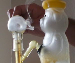 bong, weed, and honey image