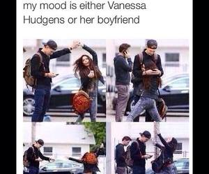 vanessa hudgens, boyfriend, and funny image