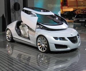 car, futuristic, and shiny image