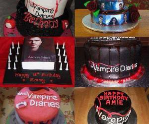cake, the vampire diaries, and tvd image
