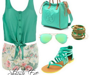 outfit, summer, and green image
