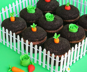 cupcake, garden, and cute image