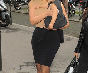 baby, girl, and kim kardashian image