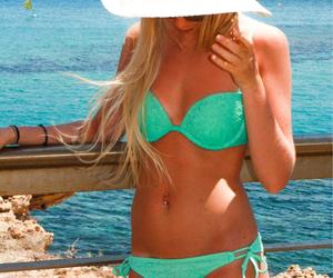 bikini, healthy, and tan image