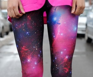 galaxy, fashion, and leggings image