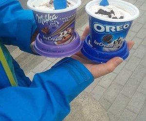 ice cream, food, and milka image