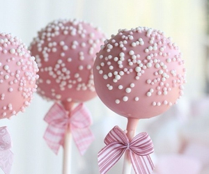 pink, sweet, and cake image
