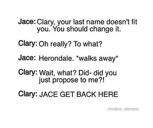 tmi, clary, and jace image