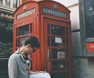 boy, london, and telephone image