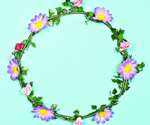 crown, pink, and floral image