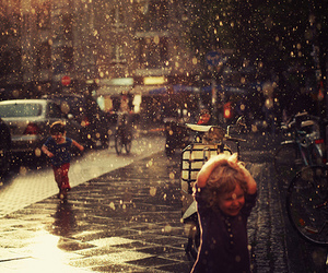 rain, kids, and child image