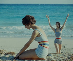 vintage, beach, and dress image