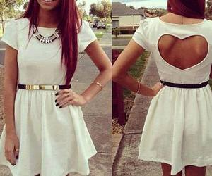 dress, heart, and white image