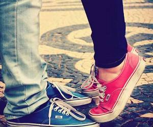 love, vans, and couple image