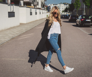 style, outfit, and blonde image