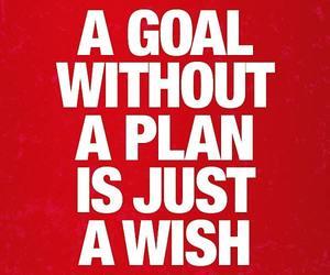 goal, inspiration, and plan image
