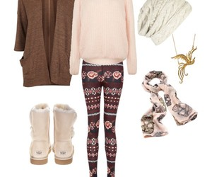 outfit, pink, and winter image
