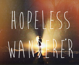 forest, mumford and sons, and hopeless wanderer image