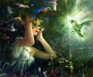 bird, fantasy, and mask image