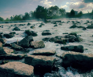 atmosphere, stone, and water image