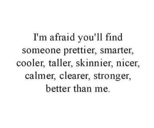 quote, afraid, and pretty image