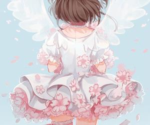 anime, angel, and sakura image