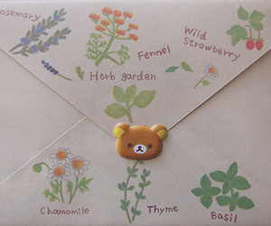 cute, flowers, and Letter image