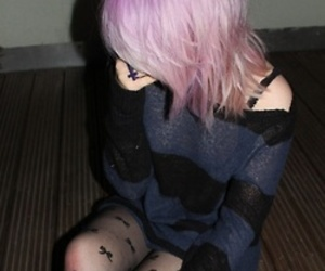 dyed hair, punk, and grunge image