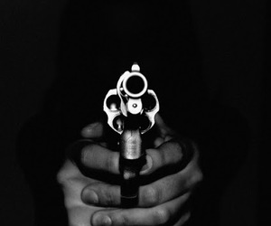 gun, black, and black and white image
