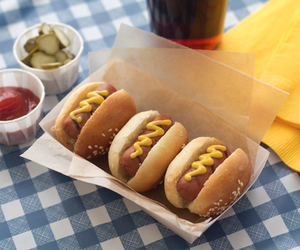 food, cute, and hot dog image