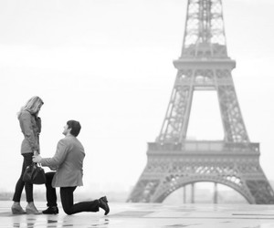 paris, proposal, and love image