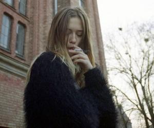 girl, smoke, and pale image