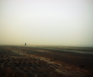 beach, dull, and grey image