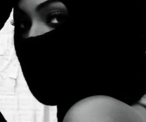 beautiful, fierce, and black&white image