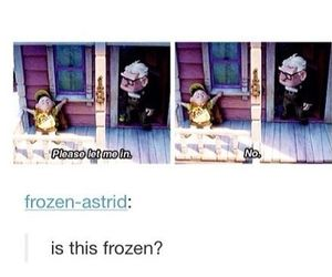 frozen, disney, and up image