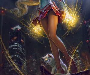 sailor venus, sailor moon, and anime image