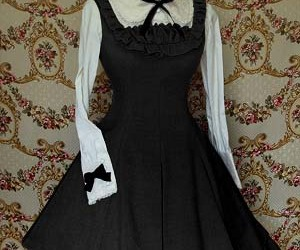 black, blouse, and dress image