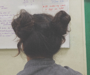 buns, girl, and indie image