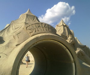 circus, finland, and sandcastle image