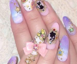 kawaii, sailor moon, and nails image