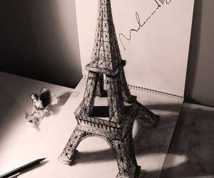 paris, drawing, and 3d image