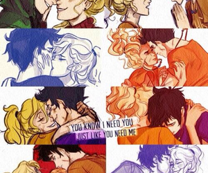 percabeth, percy jackson, and love image